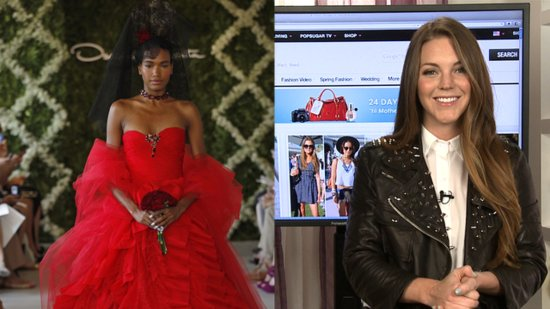 Would you wear a red wedding gown? The Bridal Fashion Week runways were rife with them.