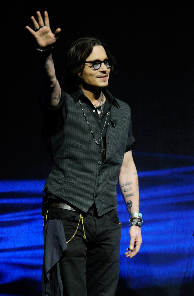 Johnny Depp took te stage at CinemaCon in Las Vegas.