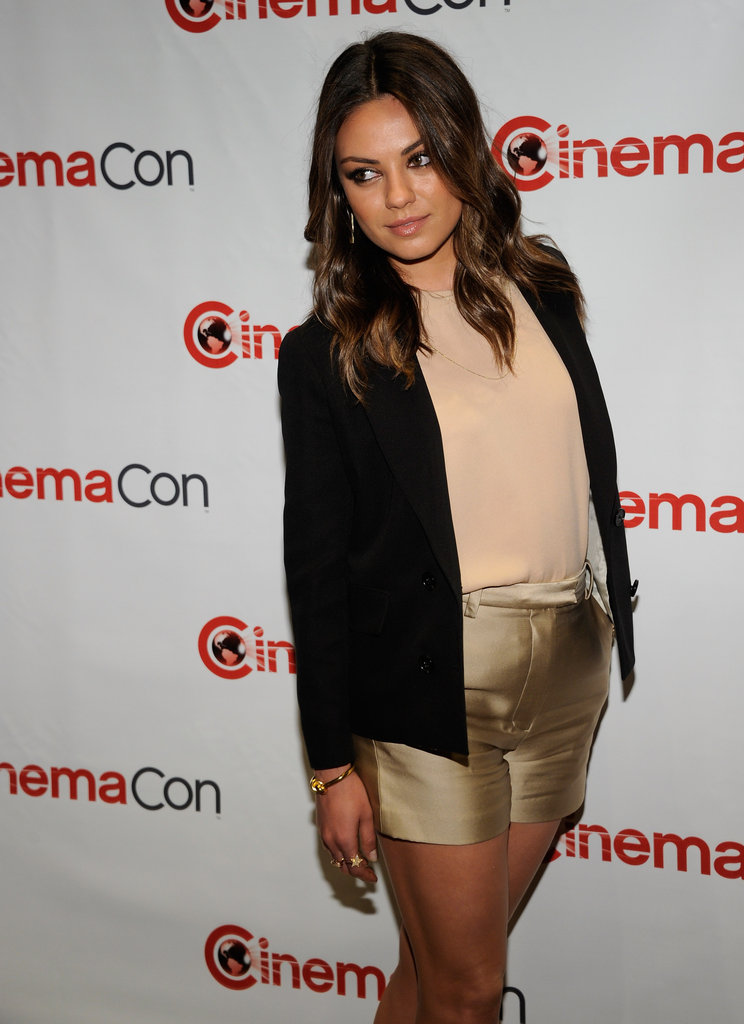 Mila Kunis arrived at CinemaCon in Las Vegas.