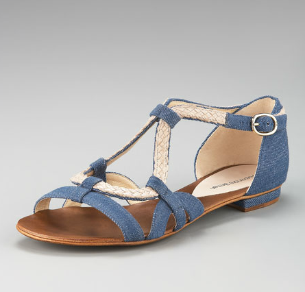If you're looking to keep your off-duty look polished but effortless, invest in a pair of chambray sandals. Alexandre Birman Denim and Rope Flat Sandal ($395)