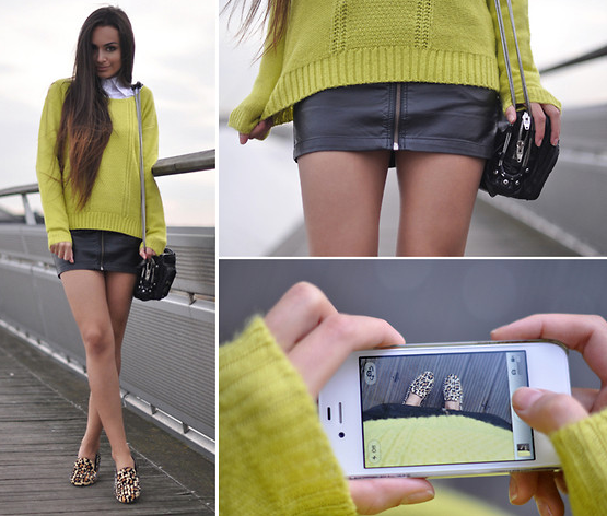 The perfect Spring knit in a vibrant citrus color that's perfect for layering up seasonal skirts.  Photo courtesy of Lookbook.nu