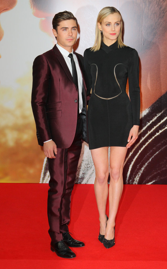 Zac Efron and Taylor Schilling posed together on the red carpet in Berlin.