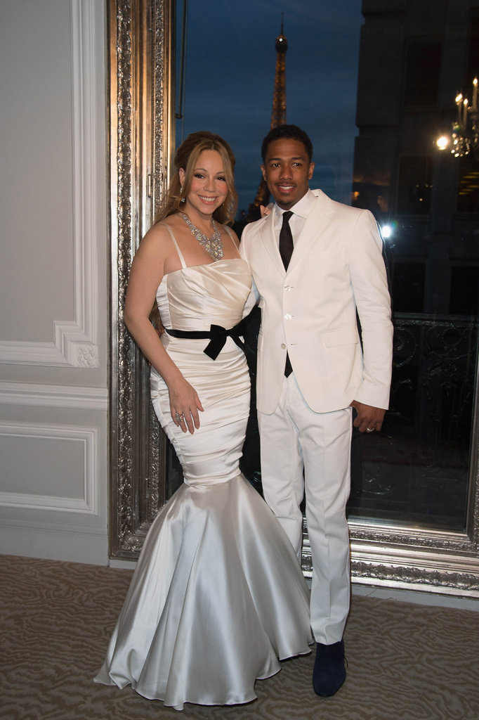 Mariah Carey and Nick Cannon dressed up once again as bride and groom for their vow-renewal ceremony in Paris in April 2012. They wed in the Bahamas in May 2008.