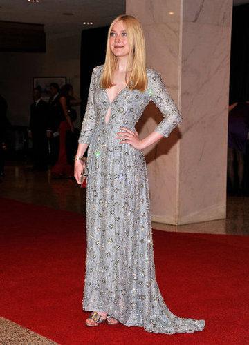 Dakota Fanning looked elegant at the White House Correspondant's Dinner.