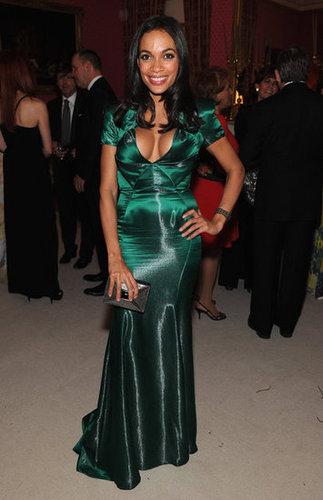 Rosario Dawson was gorgeous in green at the White House Correspondant's Dinner.