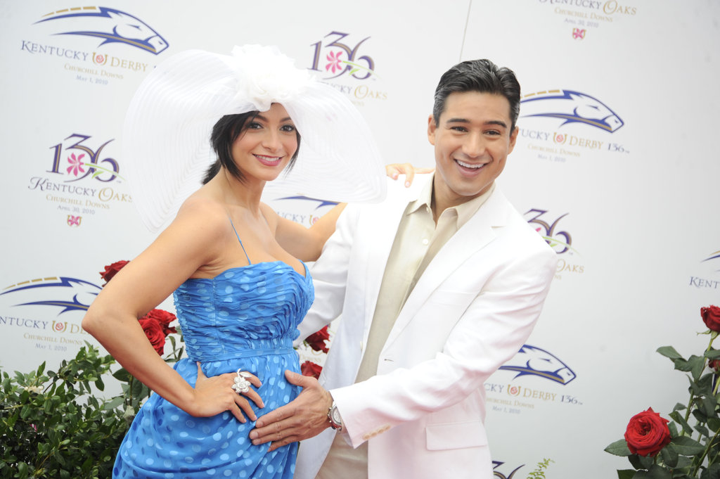 Mario Lopez and a pregnant Courtney Mazza attended the 2010 races.