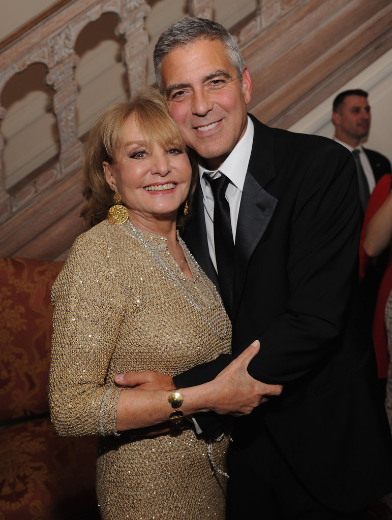 George Clooney and Barbara Walters got together for a photo.