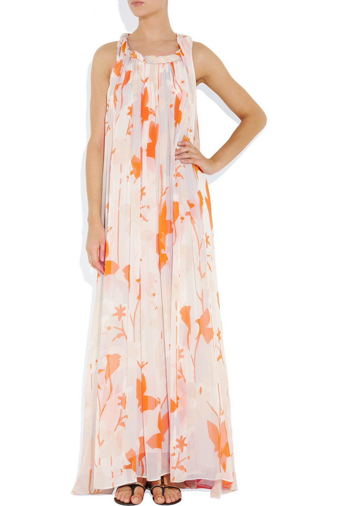 """""""I have five weddings to go to this Summer, and while I'll probably invest in more than one dress, I think this version could easily make a repeat appearance. Once belted, once free and flowy — it has the perfect beach vibe to it."""" — Marisa Tom, associate editor  Diane von Furstenberg Mirina Printed Silk-Chiffon Gown ($600)"""