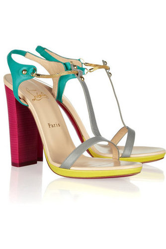 Christian Louboutin | Sylvieta 120 color-block leather sandals | NET-A-PORTER.COM