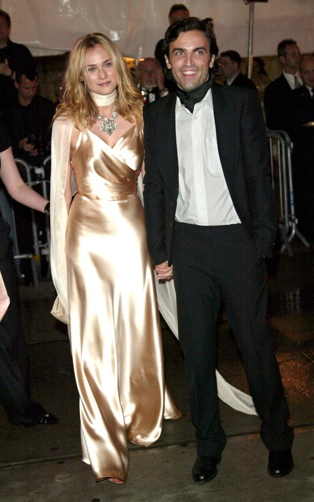Diane Kruger and Nicolas Ghesquiere — 2004