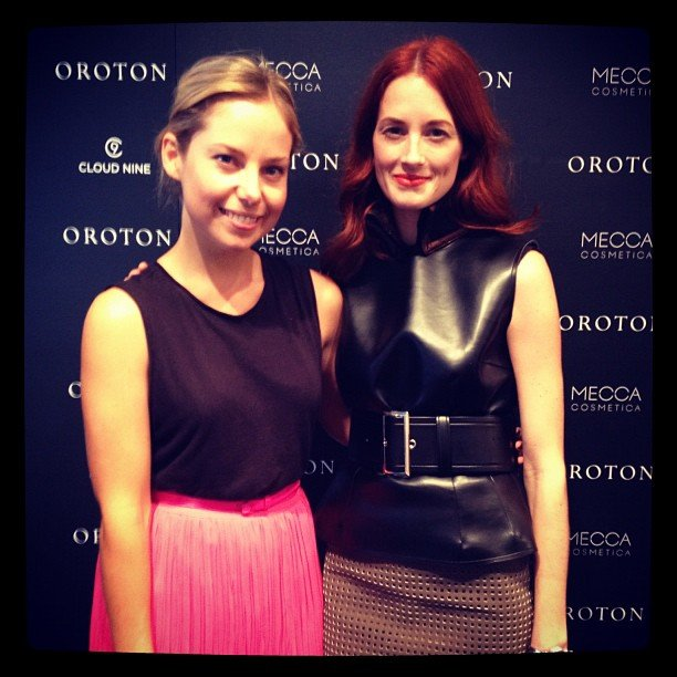Ali with her girl crush Taylor Tomasi Hill.