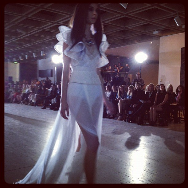 We loved this modern wedding dress from Lisa Ho.