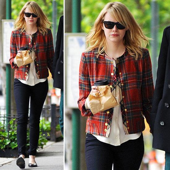 Emma Stone Plaid Jacket