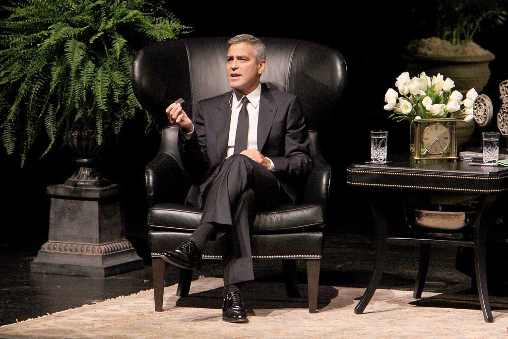 George Clooney spoke during an interview in Houston.