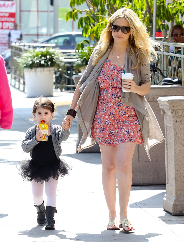Sarah Michelle Gellar made a coffee stop with daughter Charlotte  on the way to ballet class in LA.
