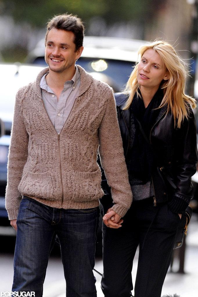Claire Danes and Hugh Dancy held hands during a walk.