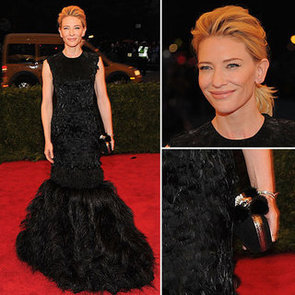 Pictures of Cate Blanchett in Feathered Alexander McQueen on the Red Carpet at the 2012 Met Costume Institue Gala