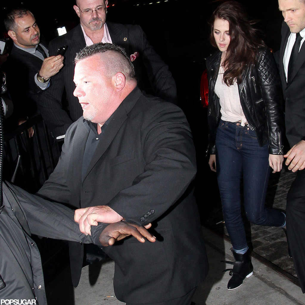 Kristen Stewart Trades Her Balenciaga Dress For Jeans and a Tee Post-Met Gala