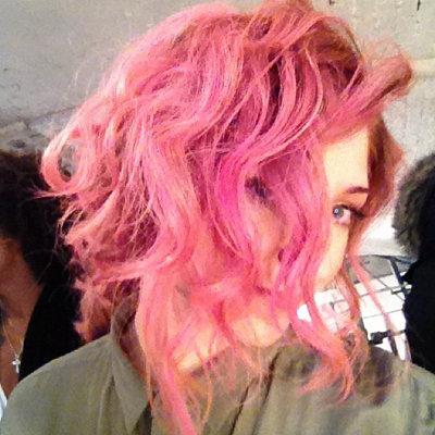 Nicola Roberts' Pink Hair