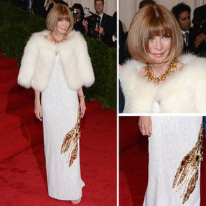 Pictures of Anna Wintour In Prada Lobster Dress at the 2012 Met Costume Institue Gala Red Carpet