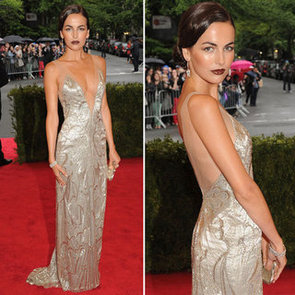 Pictures of Camilla Belle in Beaded Ralph Lauren Dress on the Red Carpet at the 2012 Met Costume Institue Gala
