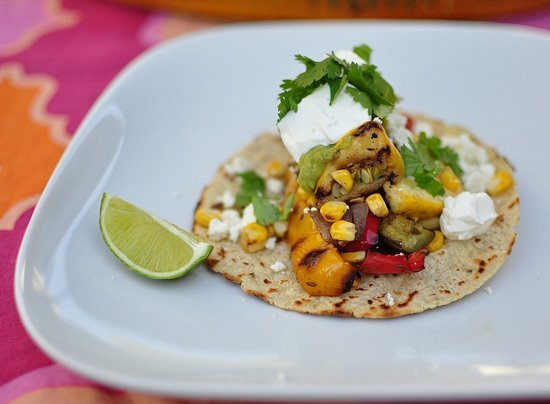 BBQ Veggie Tacos With Grilled Guacamole