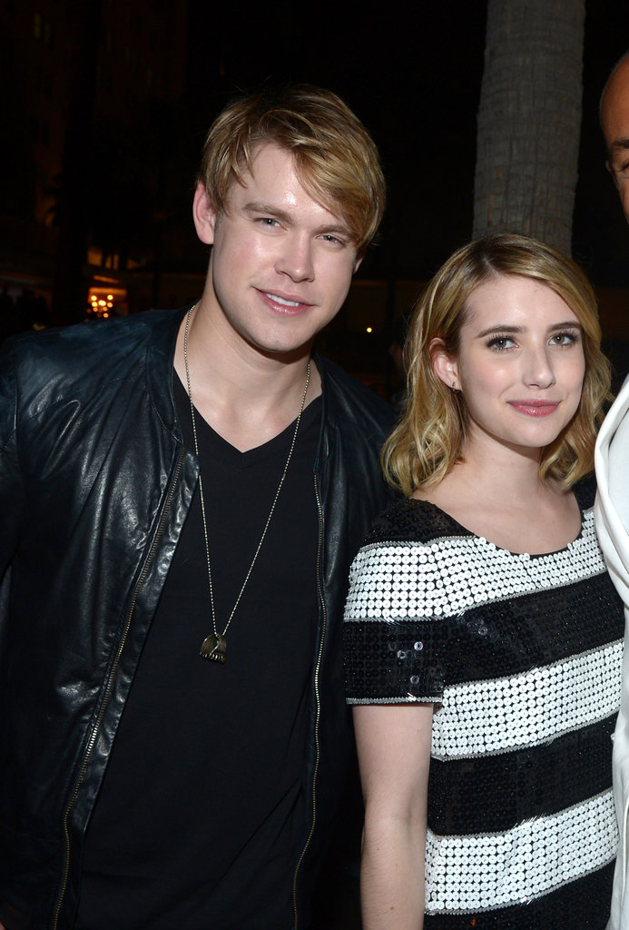 Emma Roberts and Chord Overstreet arrived at the Nylon party in Hollywood.