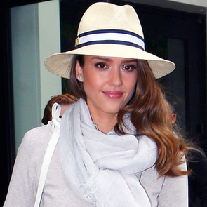 Jessica Alba in White Pants in NYC