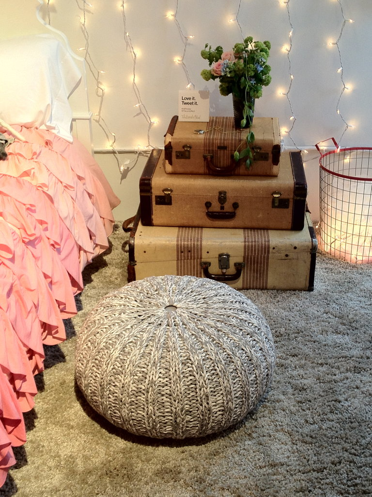 Soft and Quiet: Knit Pouf