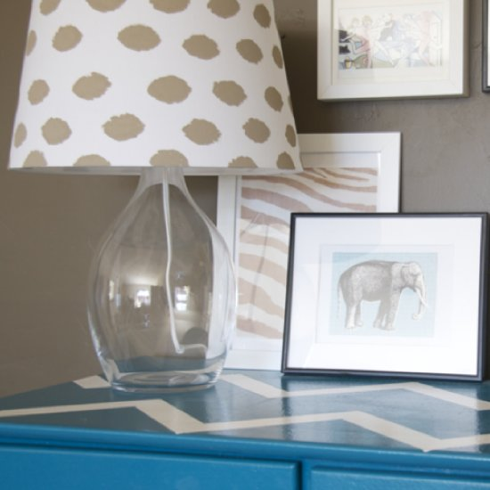 Ikea Lampshade Block-Printing DIY