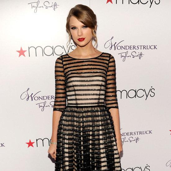 Celebs in Sheer Striped Dresses