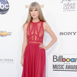 Taylor Swift Red Dress Pictures at Billboard Awards 2012