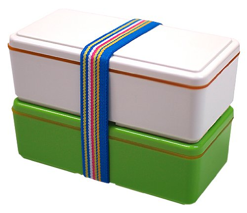The fresh Spring brights of this two-tiered bento set ($39) liven up your lunch.