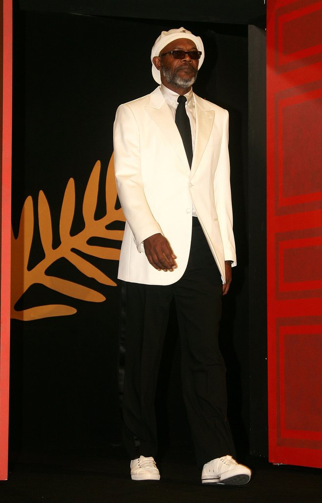 Samuel L. Jackson walked onto the stage at the Palme d'Or Award closing ceremony during the 59th International Cannes Film Festival in 2006.