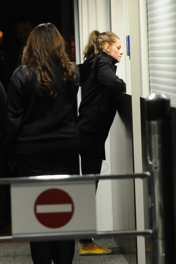Kristen Stewart checked in with German authorities before entering the country.