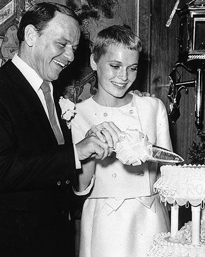 Frank Sinatra and Mia Farrow's Dainty Dessert