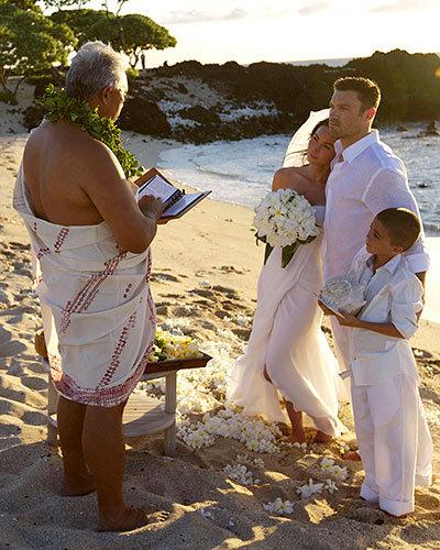 Brian Austin Green and Megan Fox's Beachy Vows