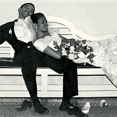 Barack and Michelle Obama Unwind