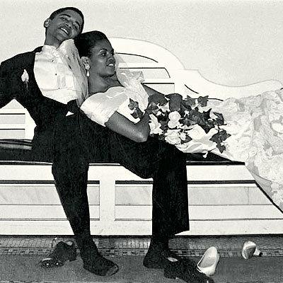 Barack and Michelle Obama Unwind