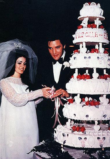 Elvis and Priscilla Presley's Personalized Cake
