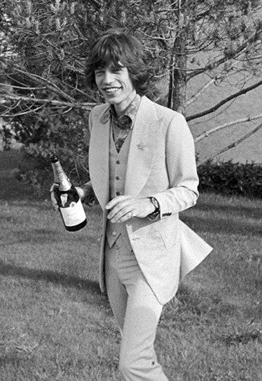 Mick Jagger's Lone Toast