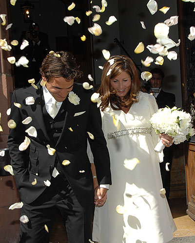 Roger Federer and Mirka Vavrinec's Floral Confetti