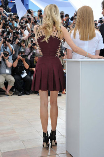 Diane Kruger's Versus mini from behind, not to mention another view of those awesome Jimmy Choo sandals.