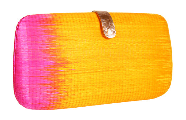Next time you pull out that LWD, just add this ombré clutch into the mix.  Rebecca Minkoff Oversized Minaudier ($295)