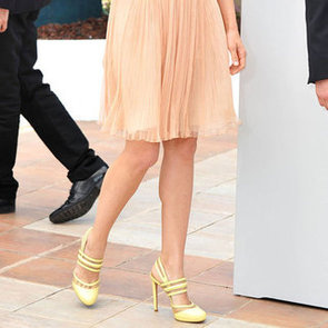 Celebrities in Peach and Yellow