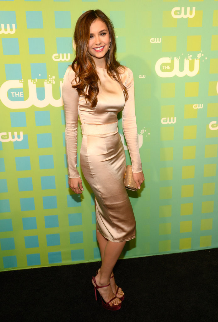 Nina Dobrev arrived at the CW Upfront in NYC.