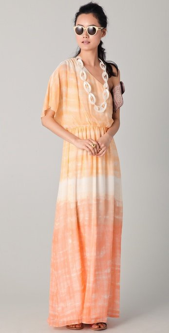 Whether you're attending a Summer wedding or planning an outdoor soiree, this ombré-effect maxi is a pretty pick for your entertaining affairs. Alice + Olivia Crawford One-Sleeve Maxi Dress ($495)