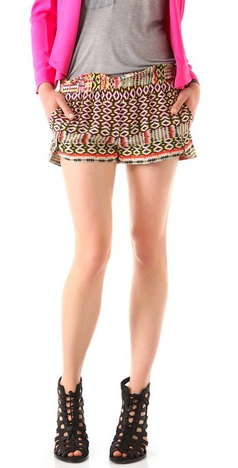 The ikat print on these shorts lends a cool tribal vibe.  Rebecca Minkoff Mika Printed Shorts ($198)