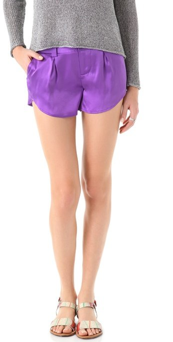 We love how these pretty silk shorts have a running short silhouette.  Alice + Olivia Butterfly Shorts ($187)