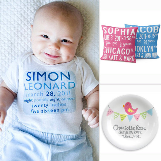Hey World, Here I Am! 8 Great Personalized Gifts With Baby's Birth Announcement Info